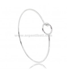 RIGID CIRCLE BRACELET WITH BASE CLOSURE FOR PENDANT IN SILVER RHODIUM-PLATED TIT 925 ‰