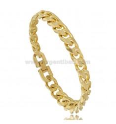 GROUMETTE BRACELET 10 MM IN YELLOW GOLD PLATED STEEL