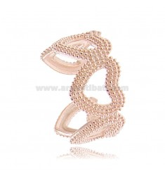 DOTTED HEART SHAPES RING IN ROSE SILVER TIT 925 ADJUSTABLE SIZE