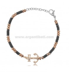 BRACELET WITH STAINLESS STEEL BICOLOR 20 CM