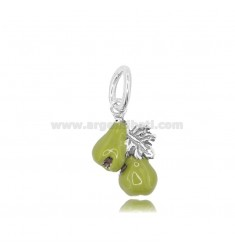 PENDANT FIGS MM 19X13 IN MICRO-CAST AND BURNISHED SILVER 925 TIT AND ENAMEL