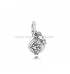 POMEGRANATE PENDANT MM 16X12 IN MICRO-CAST AND BURNISHED SILVER TIT 925