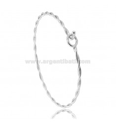 RIGID TORCHON BRACELET WITH CLOSURE IN RHODIUM-PLATED SILVER TIT 925 ‰