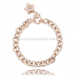 CABLE BRACELET WITH STAR IN ROSE SILVER TIT 925 ‰ CM 18-20