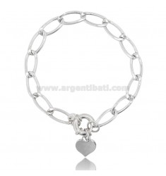 CHAIN BRACELET WITH HEART IN RHODIUM-PLATED SILVER TIT 925 ‰ CM 18-20
