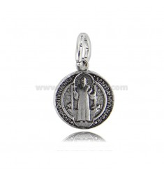 MEDAL PENDANT SAN BENITO DIAM MM 14 IN BURNISHED SILVER TIT 800