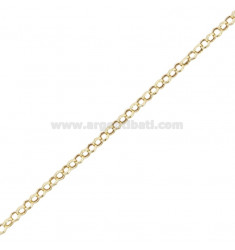 CHAIN BY THE METER ROLO 'DIAMETER MESH 2.5 MM THICKNESS 1 MM SILVER GOLDEN TIT 925 ‰ CM 50