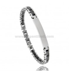 BRACELET WITH PLATE AND STEEL CERAMIC CM 21