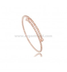 RIGID TENNIS BRACELET WITH PINK ZIRCONIA MM 2.5 IN ROSE SILVER TIT 925 ‰