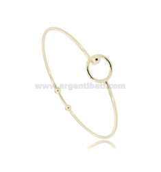 RIGID CIRCLE BRACELET WITH BASE CLOSURE FOR PENDANT IN GOLDEN SILVER TIT 925 ‰