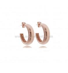 HOOP EARRINGS DIAMETER 17 A DEGRADED DEGRADED ROSE SILVER TIT 925
