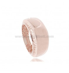 ELECTROFUSED BAND RING IN ROSE SILVER TIT 925 MEASURE 14