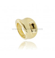 ELECTROFORMED BAND RING IN SILVER GOLDEN TIT 925 MEASURE 14
