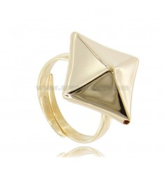ELECTROFORMED RING STUD IN SILVER GOLDEN TIT 925 ADJUSTABLE SIZE FROM 18