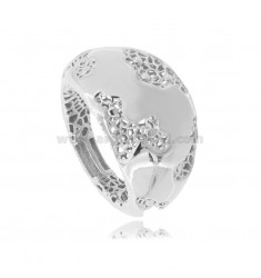 ELECTROFUSED BAND RING IN RHODIUM-PLATED SILVER TIT 925 MEASURE 12