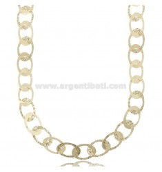 LASER CUT CHAIN NECKLACE IN SILVER GOLDEN TIT 925 CM 45