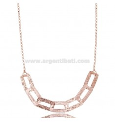 LASER CUT CHAIN NECKLACE IN SILBER GOLDEN TIT 925 CM 45