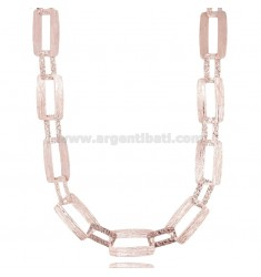 LASER CUT CHAIN NECKLACE IN ROSE SILVER TIT 925 CM 45