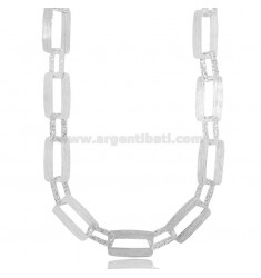 LASER CUT CHAIN NECKLACE IN RHODIUM-PLATED SILVER TIT 925 CM 45