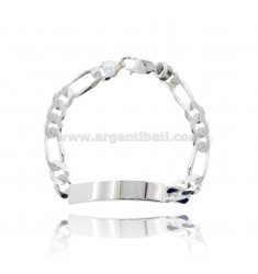 MESH BRACELET 3 1 WITH PLATE MM 58X8 IN SILVER 925 ‰ CM 21