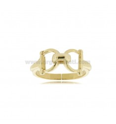 BUCKLE RING IN GOLDEN SILVER TIT 925 ‰ ADJUSTABLE SIZE FROM 15