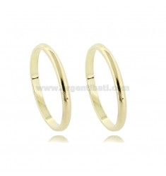 CLIP PCS 2 MM 2,2 IN SILVER PLATED YELLOW GOLD TIT. 925 ‰ SIZE 7
