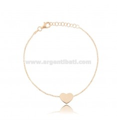 ROLO BRACELET 'WITH HEART IN ROSE SILVER TIT 925 CM 17-19