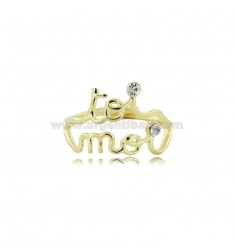 TOI MOI RING IN SILVER GOLDEN TIT 925 ‰ ADJUSTABLE SIZE