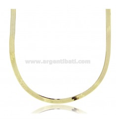 NECKLACE CHOKER BACK OF DONKEY 3.5 MM SILVER GOLD PLATED TIT 925 ‰ CM 35 5