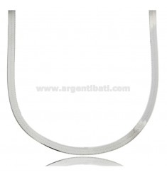 NECKLACE CHOKER DONKEY BACK MM 3,5 IN SILVER RHODIUM-PLATED TIT 925 ‰ CM 35 5