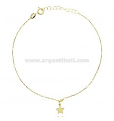 CABLE ANKLE IN SILVER GOLDEN TIT 925 ‰ WITH STAR 22 CM EXTENDABLE TO 25
