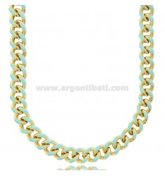 CHOKER NECKLACE AND GROUMETTE NECKLACE MM 8,2 IN SILVER GOLDEN TIT 925 ‰ AND ENAMEL