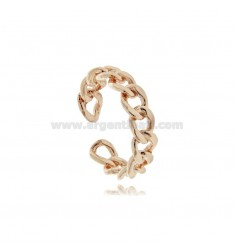 RING GROUMETTE MM 5.5 IN ROSE SILVER TIT 925 ‰ ADJUSTABLE SIZE