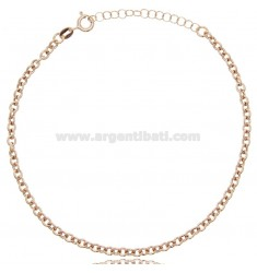 ROLO ANKLET IN ROSE SILVER TIT 925 ‰ CM 22 EXTENDABLE TO 25