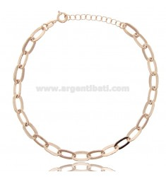 ANKLE CHAIN IN ROSE SILVER TIT 925 ‰ CM 22 EXTENDABLE TO 25