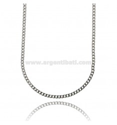 CURB CHAIN 4 MM IN STEEL 55 CM