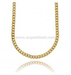 GROUMETTE NECKLACE 6 MM IN GOLDEN STEEL 60 CM