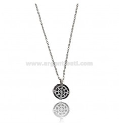 TWO-TONE STEEL RUDDER PENDANT WITH CABLE CHAIN CM 50