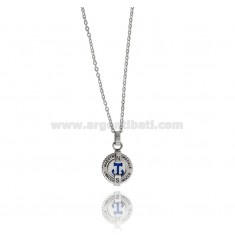 STILL PENDANT IN TWO-TONE STEEL WITH CABLE CHAIN CM 50