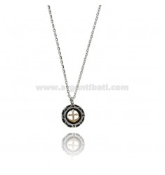 STILL PENDANT IN TRICOLOR STEEL WITH CABLE CHAIN CM 50