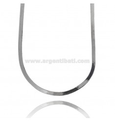 NECKLACE CHOKER DONKEY BACK MM 4,5 IN SILVER RHODIUM-PLATED TIT 925 ‰ CM 35-50