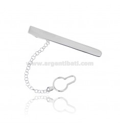 TIE CLIP MM 48X7 IN POLISHED AND SATIN SILVER TIT 925 ‰