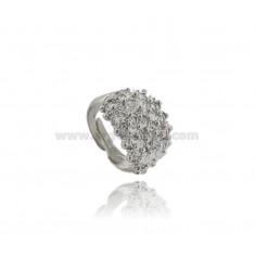 RING TYPE FEDE SARDA IN SILVER PLATINATED TIT 925 ADJUSTABLE SIZE