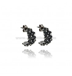 SARDINIAN FAITH EARRINGS IN SILVER BURNISHED TIT 925 ADJUSTABLE SIZE