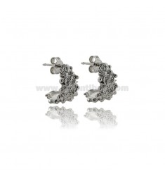 SARDINIAN FAITH EARRINGS IN SILVER PLATINATED TIT 925 ADJUSTABLE SIZE