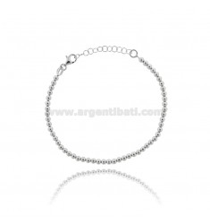 BALL BRACELET 3 MM IN SILVER PLATINATED 925 ‰ CM 17-19
