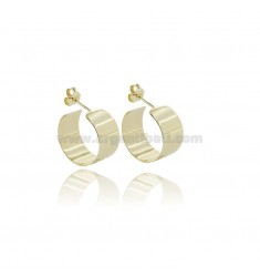 CIRCLE EARRINGS DIAM 17 TO 10 MM PLATE IN SILVER GOLDEN TIT 925
