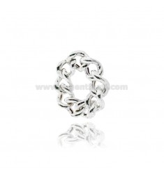 CURB RING MM 9 IN SILVER WITH ANTITARNISH TIT 925 MIS 23