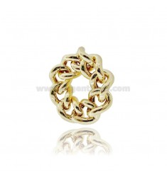 CURB RING 11 MM SILVER GOLDEN TIT 925 MIS 13