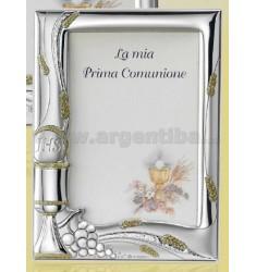 PORTAFOTO COMUNIONE C/GLITTER ORO CM 9X13 R/LEGNO ARG.